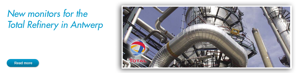 New monitors for the Total Refinery in Antwerp