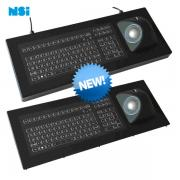 103 Key LED backlit NSI Keyboard with ergonomical Trackball IP67 sealing KSME103-WLED